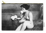 Nude Drinking Tea, 19th Ct Carry-all Pouch