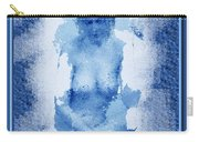 Nude In Blue Carry-all Pouch