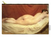 Nude Lying On A Sofa Against A Red Curtain Carry-all Pouch