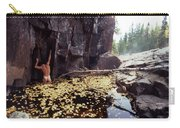 Nude Standing In A Leaf Pool  Carry-all Pouch
