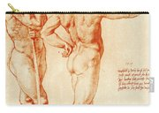 Nude Study Of Two Warriors Carry-all Pouch