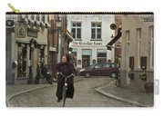 Nun On A Bicycle In Bruges Carry-all Pouch