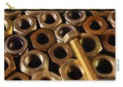 Nuts And Screw Carry-all Pouch by Carlos Caetano