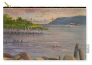 Ny Skyline And Gwb From Hastings On Hudson Carry-all Pouch