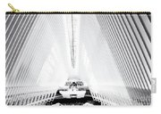 Nyc- Inside The Oculus In Black And White Carry-all Pouch