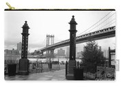 Nyc Manhattan Bridge Bw Carry-all Pouch