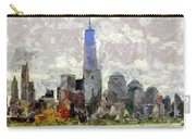 Nyc Skyline Digital Painting  Carry-all Pouch