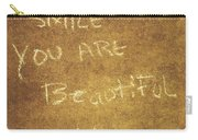 Nyc Street Art Quote Carry-all Pouch