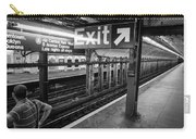 Nyc Subway At Night Carry-all Pouch by Ranjay Mitra