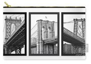 Nyc Three Bridges-east River Carry-all Pouch