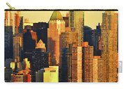 Nyc West Side In Gold And Blue  Carry-all Pouch