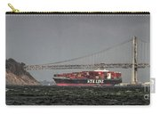Nyl Line Container Ship By Bay Bridge In San Francisco, California Carry-all Pouch