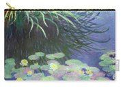 Nympheas Avec Reflets De Hautes Herbes Carry-all Pouch