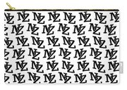 Nz New Zealand Black On White Carry-all Pouch