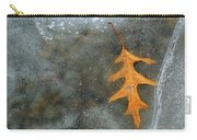 Oak Leaf In Ice  Carry-all Pouch