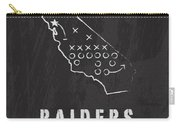 Oakland Raiders Art - Nfl Football Wall Print Carry-all Pouch by Damon Gray