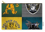 Oakland Sports Fan Recycled Vintage California License Plate Art Athletics Raiders Warriors Sharks Carry-all Pouch