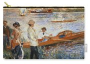 Oarsmen At Chatou Carry-all Pouch by Pierre Auguste Renoir