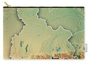 Oberbayern Regierungsbezirk Bayern 3d Render Topographic Map Bor Carry-all Pouch