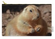 Obese Prairie Dog Sitting In A Pile Of Dirt Carry-all Pouch