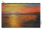 Ocean Sunrise- Oil Painting- Abstract Art Carry-all Pouch