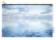 Ocean With Calm Waves Background With Dramatic Sky Carry-all Pouch
