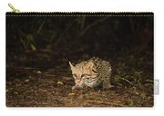Ocelot Crouching At Night Looking For Food Carry-all Pouch