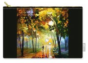 October Reflections - Palette Knife Oil Painting On Canvas By Leonid Afremov Carry-all Pouch