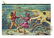 Octopus Attack, 1900s French Postcard Carry-all Pouch