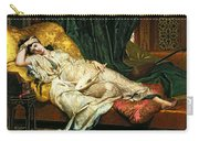 Odalisque With A Lute Carry-all Pouch by Hippolyte Berteaux
