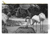 Odd Bird Out In Black And White Carry-all Pouch