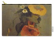 Odilon Redon - Vase With Poppy, Camomile And Bindweed Carry-all Pouch