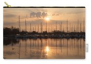 Of Yachts And Cormorants - A Golden Marina Morning Carry-all Pouch