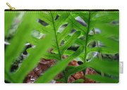 Office Art Forest Ferns Green Fern Giclee Prints Baslee Troutman Carry-all Pouch