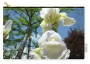 Office Art Giclee Prints White Yellow Iris Flowers Irises Baslee Troutman Carry-all Pouch