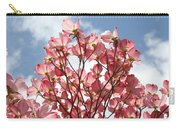 Office Art Prints Blue Sky Pink Dogwood Flowering 7 Giclee Prints Baslee Troutman Carry-all Pouch
