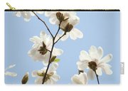Office Art Prints Blue Sky White Magnolia Flowers 38 Giclee Prints Baslee Troutman Carry-all Pouch