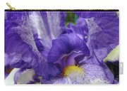 Office Art Prints Iris Flowers Purple White Irises 40 Giclee Prints Baslee Troutman Carry-all Pouch