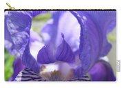 Office Art Prints Irises Purple Iris Flower Giclee Baslee Troutman Carry-all Pouch
