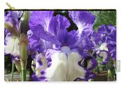 Office Art Prints Irises Purple White Iris Flowers 39 Giclee Prints Baslee Troutman Carry-all Pouch