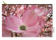 Office Art Prints Pink Flowering Dogwood Tree 1 Giclee Prints Baslee Troutman Carry-all Pouch