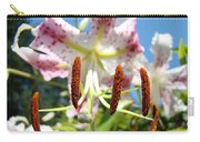 Office Art Prints Pink White Lily Flowers Botanical Giclee Baslee Troutman Carry-all Pouch