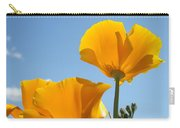 Office Art Prints Poppies Poppy Flowers Blue Skies Giclee Baslee Carry-all Pouch