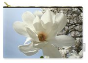 Office Art Prints White Magnolia Flower 66 Blue Sky Giclee Prints Baslee Troutman Carry-all Pouch