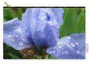 Office Art Wet Blue Iris Flower Floral Giclee Baslee Troutman Carry-all Pouch