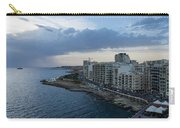 Offshore Rainstorm - Sliema's Famous Promenade Waking Up Carry-all Pouch