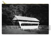 Ohio Covered Bridge In Black And White Carry-all Pouch