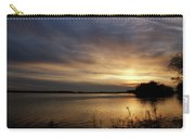 Ohio River Sunset Carry-all Pouch by Sandy Keeton