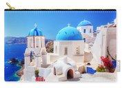 Oia Town On Santorini Island Greece Aegean Sea Carry-all Pouch