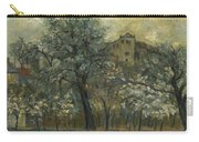 Oil Painting House Tree Carry-all Pouch